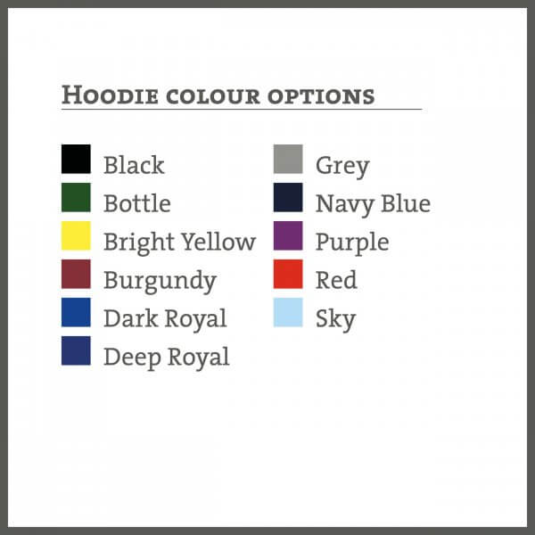 Hoodie colours available